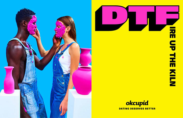 Maurizio Cattelan and Pierpaolo Ferrari with Wieden + Kennedy New York: OkCupid